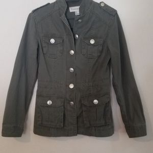 Forever 21 Fitted Army Green Jacket
